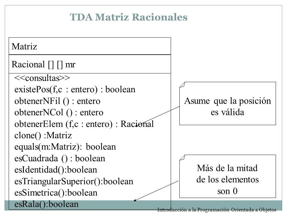 TDA Matriz Racionales Matriz Racional [] [] mr